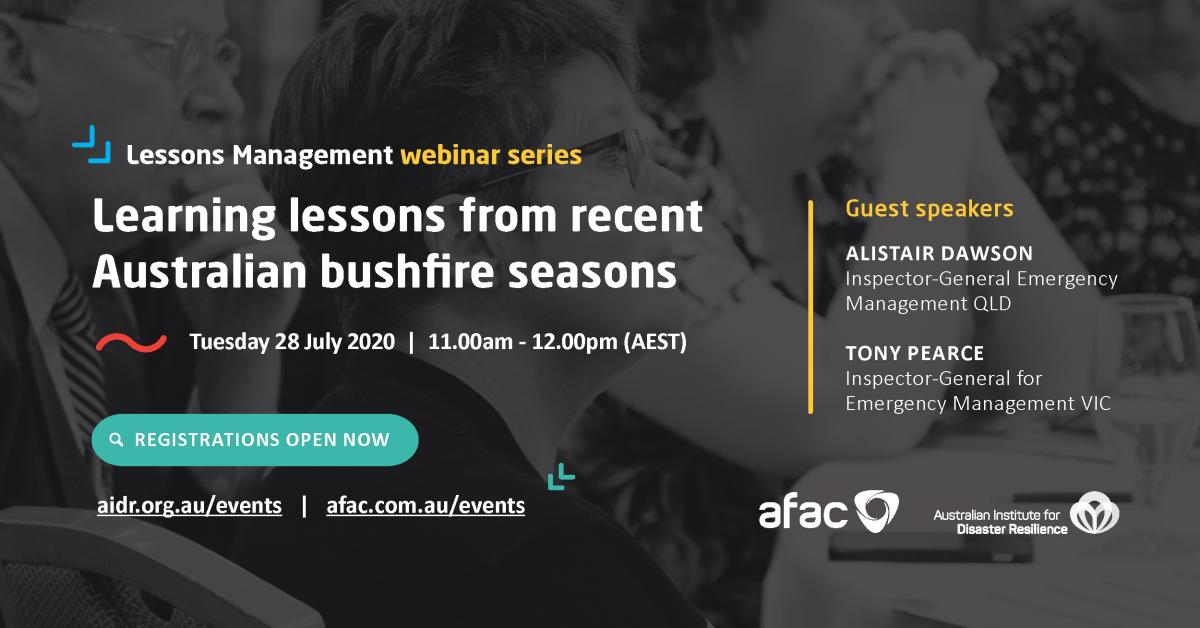 Promotion for the Lessons Webinar