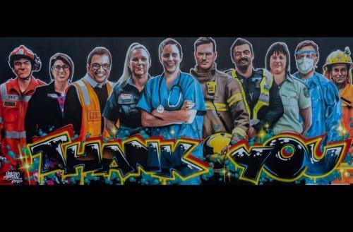 Heesco thank you mural