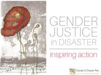 Gender Justice in Disaster conference
